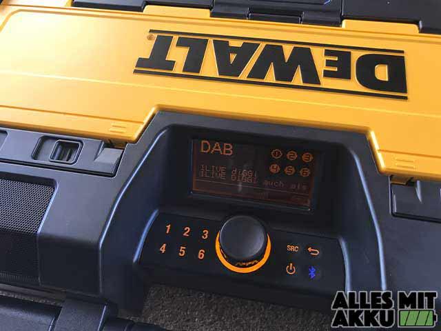 Dewalt Baustellenradio Test Dewalt DWST1-75659-QW Bedienung