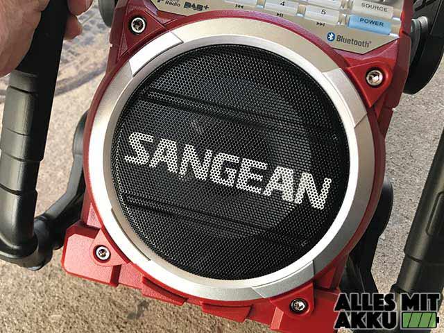 Sangean Baustellenradio Test