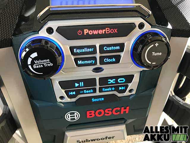Baustellenradio Test Bosch GML 50 Bedienung