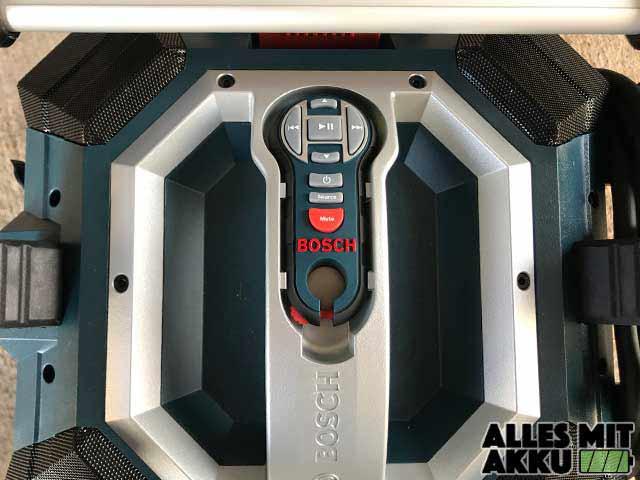 Baustellenradio Test Bosch GML 50 Griff Fernbedienung