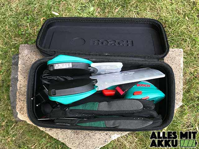 Bosch DIY Akku-Grasschere AGS Tasche