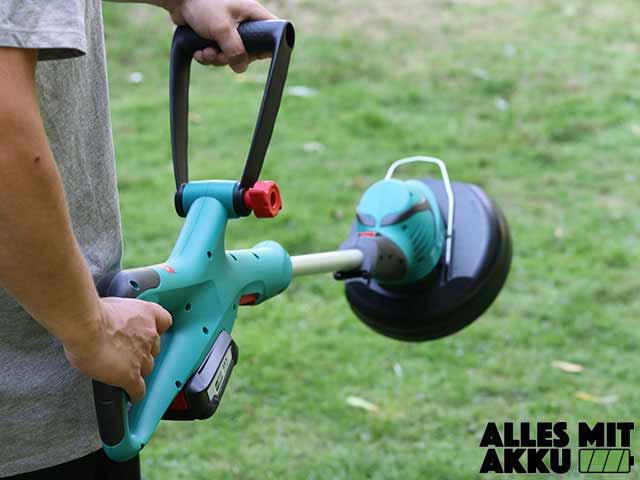 Akku Rasentrimmer Test Bosch ART 23-18 Li