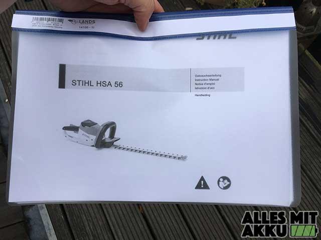 Stihl HSA 56 Bedienungsanleitung