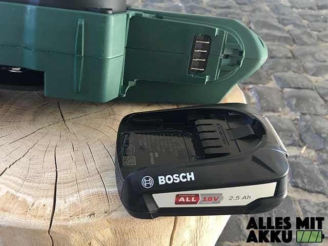 Bosch Universalchain 18 Akku Aufnahme