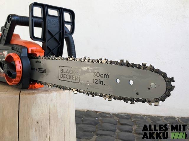 Black+Decker Akku Kettensägen Test Black+Decker GKC3630L20 Schwert
