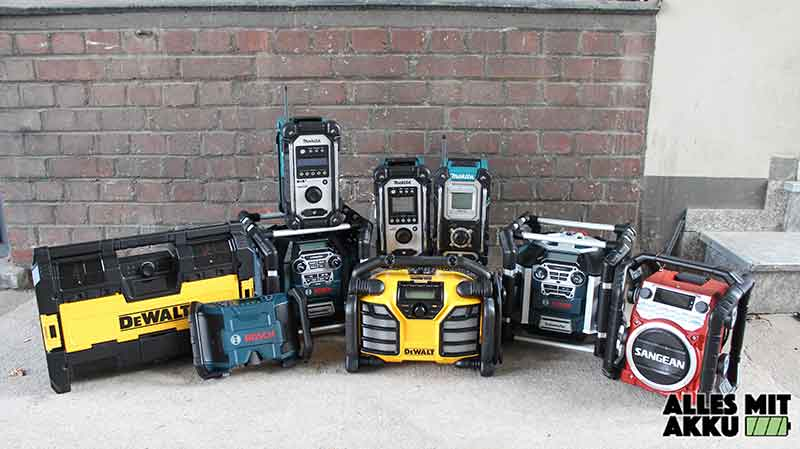 Baustellenradio Test Alle Modelle