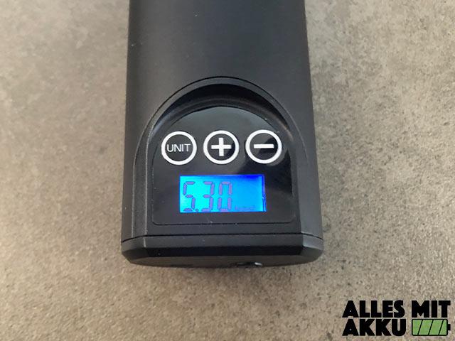 Akku Luftpumpen Test Audew 12V 150PSI Beleuchtetes Display