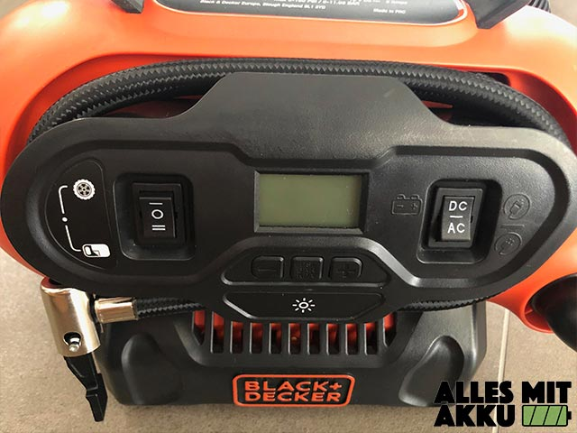 Black+Decker BDCINF18N-QS Test Bedienfeld