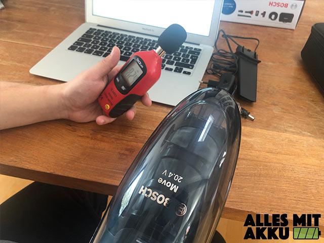 Akku Handstaubsauger Test dB Messgerät