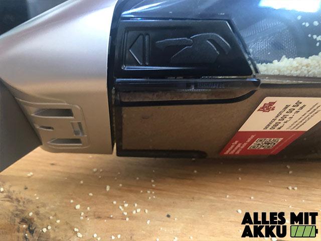 Akku Handstaubsauger Test Dirt Devil M137 Gator 18 V Behälter undicht