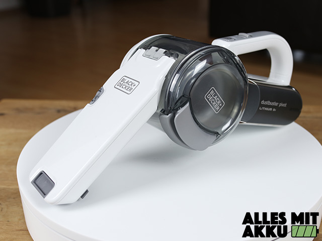 Black+Decker 18 V Litium Dustbuster Pivot Test