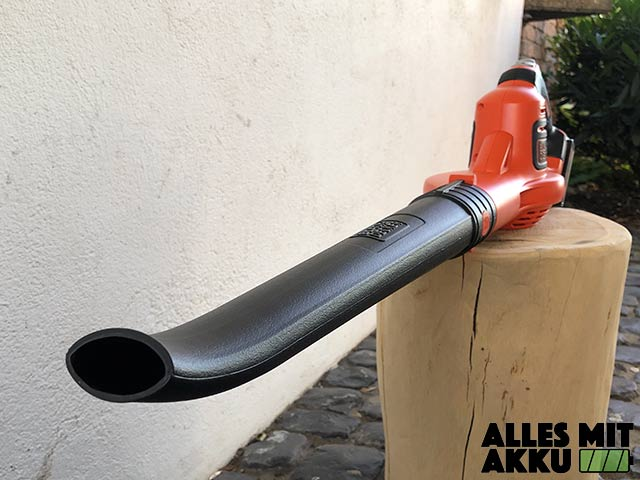 Akku Laubbläser Black+Decker GWC1820PC Rohr