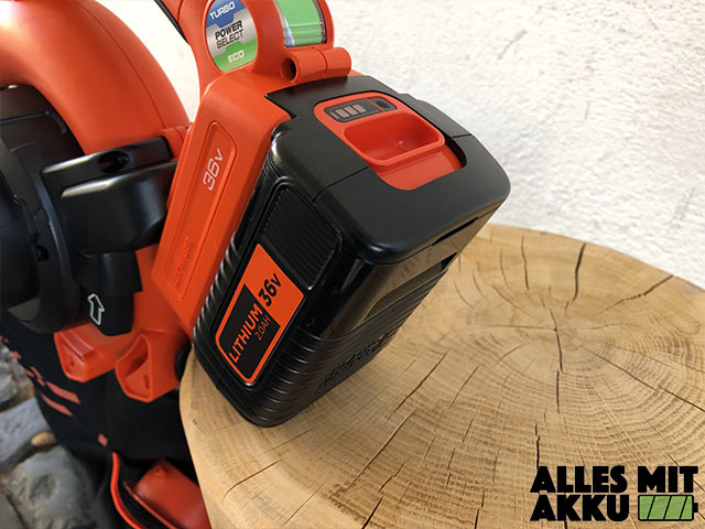 Akku Laubbläser Black+Decker GWC3600L20 Akku