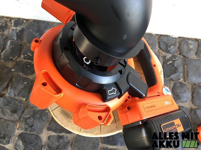Akku Laubbläser Black+Decker GWC3600L20 Montage