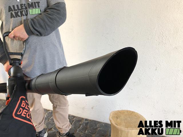 Akku Laubbläser Black+Decker GWC3600L20 Rohr