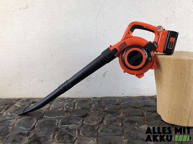 Akku Laubbläser Black+Decker GWC3600L20 Test