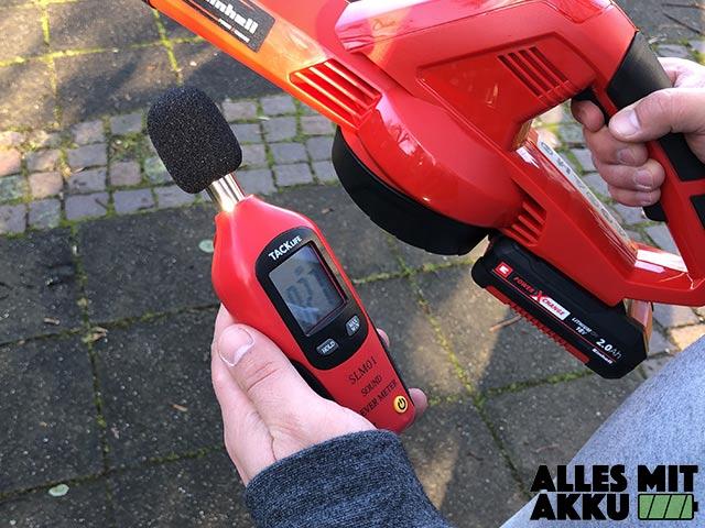 Einhell Akku Laubbläser im Test Einhell GE-CL 18 Li E Set Power X-Change Lautstärker