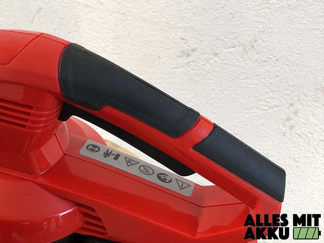 Akku Laubbläser Einhell GE-CL 18 Li E Set Power X-Change Griff