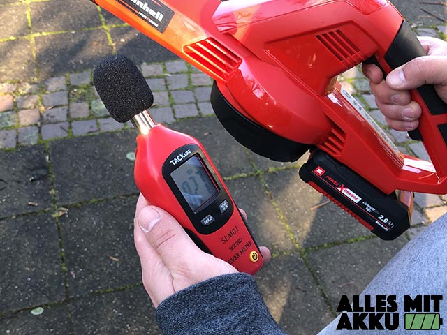 Akku Laubbläser Einhell GE-CL 18 Li E Set Power X-Change Lautstärke