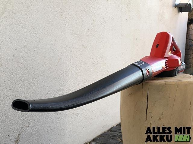 Akku Laubbläser Einhell GE-CL 18 Li E Set Power X-Change Rohr