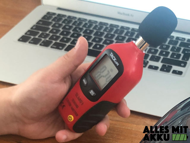 Akku Luftpumpen Test Lautstärker