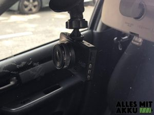 Dashcams mit Akku - Befestigung außen