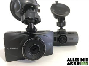 Dashcams mit Akku - Zwei Dashcams