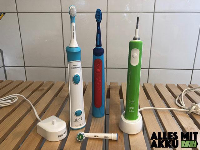 Elektrische Zahnbürste für Kinder Test - Drei Modelle