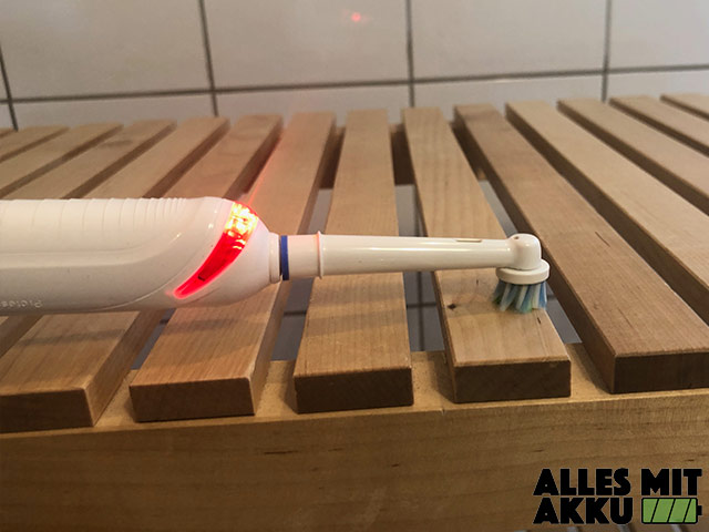 Elektrische Zahnbürste für Kinder Test - Oral-B Junior Smart - Andruckkontrolle