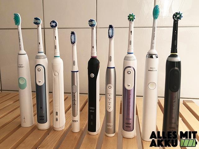Elektrische Zahnbürsten Test - Alle Modelle