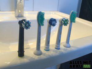 Elektrische Zahnbürsten Test - Bürstenköpfe