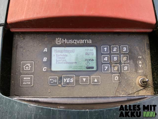 Mähroboter mit GPS - PIN Eingabe