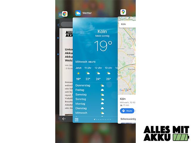 Mein Handy wird heiß - Offene Anwendungen