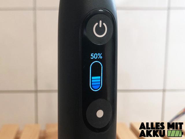 Oral-B iO 9 - Akkustandsanzeige