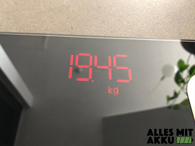 Personenwaage Test - Renpho Körperfettwaage - Gewicht