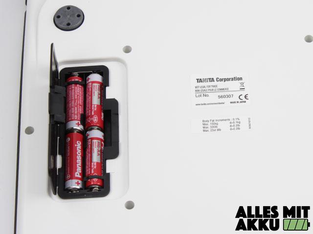 Tanita BC-601 Batteriefach