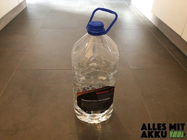 Wassereinlagerungen - Destiliertes Wasser