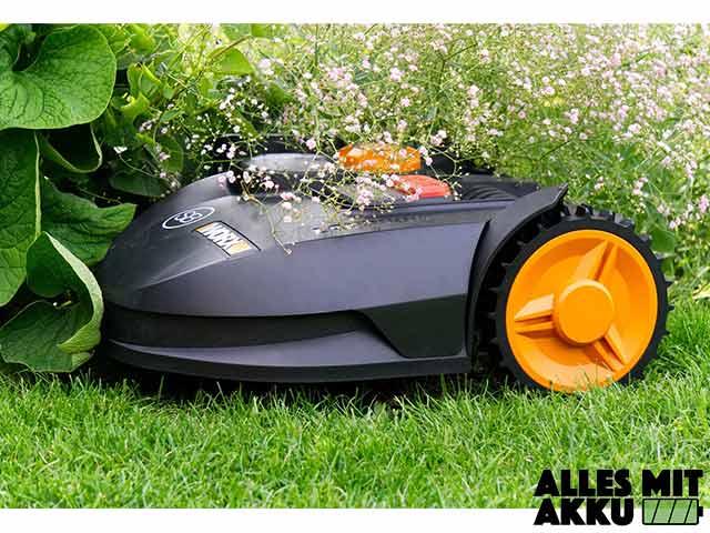Mähroboter Garage - Mähroboter ungeschützt