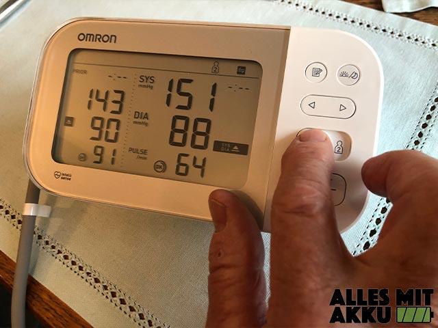 Blutdruck richtig messen - Praxistest - Bedienung