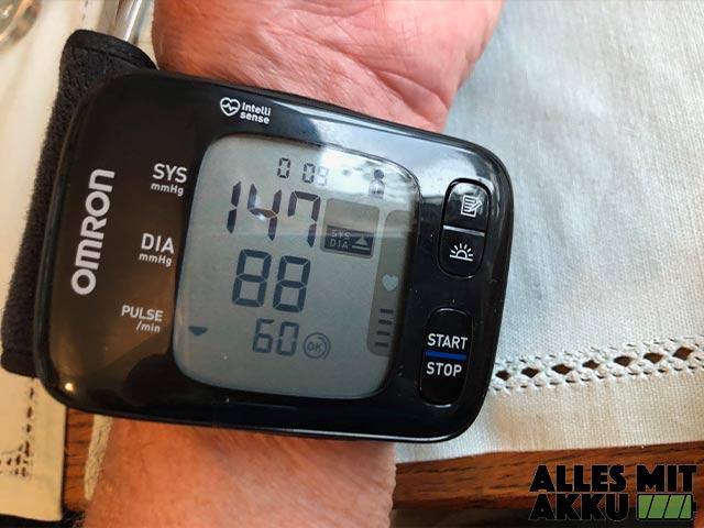 Blutdruckmessgeräte Test - Omron - Handgelenk - Display
