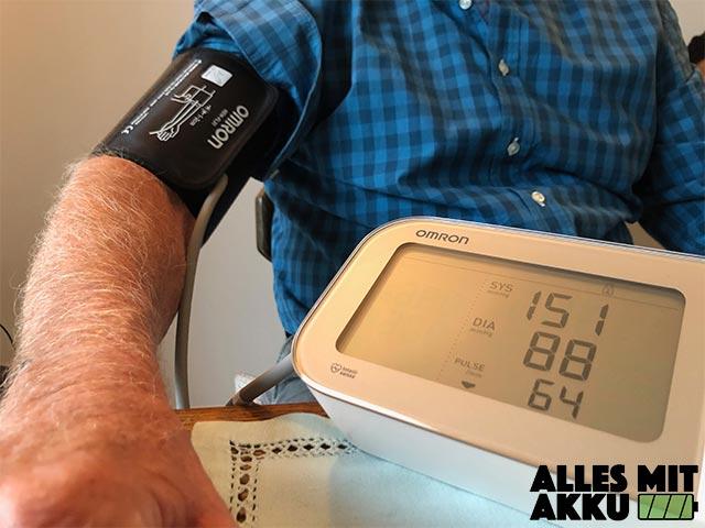 Blutdruckmessgeräte Test - Praxistest 2