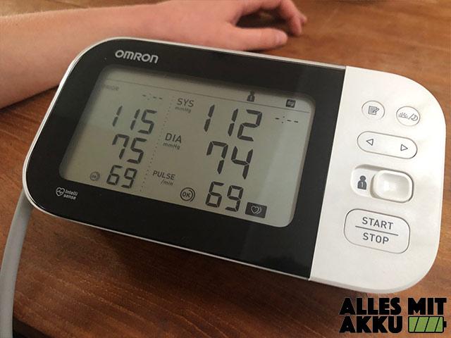 Blutdruckmessgeräte Test - Display