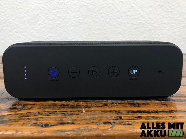 Anker Bluetooth Lautsprecher Test - Bedienung