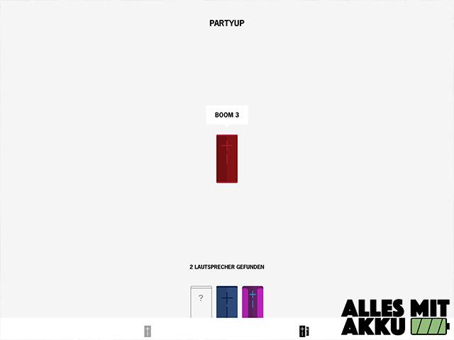 Bluetooth Lautsprecher Test - App - Party up