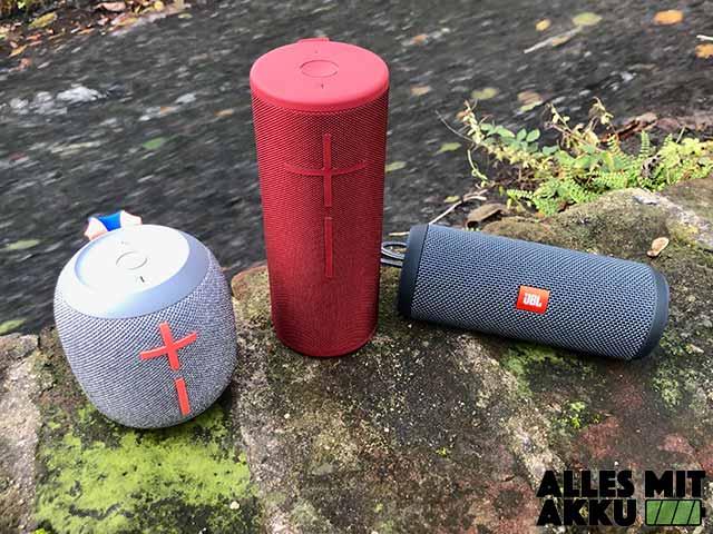 Bluetooth Lautsprecher Test - Wasser