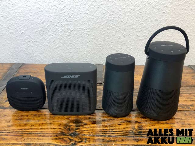 Bose Bluetooth Lautsprecher Test - Größenvergleich
