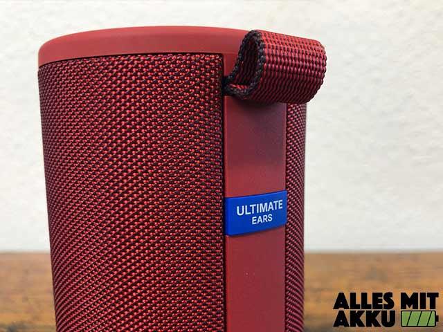 Ultimate Ears Boom 3 Test - Trageband