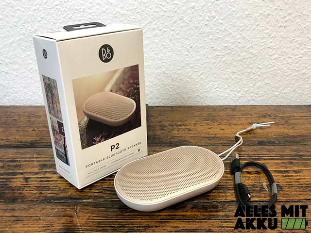 Bang & Olufsen Beoplay P2 Test - Lieferumfang