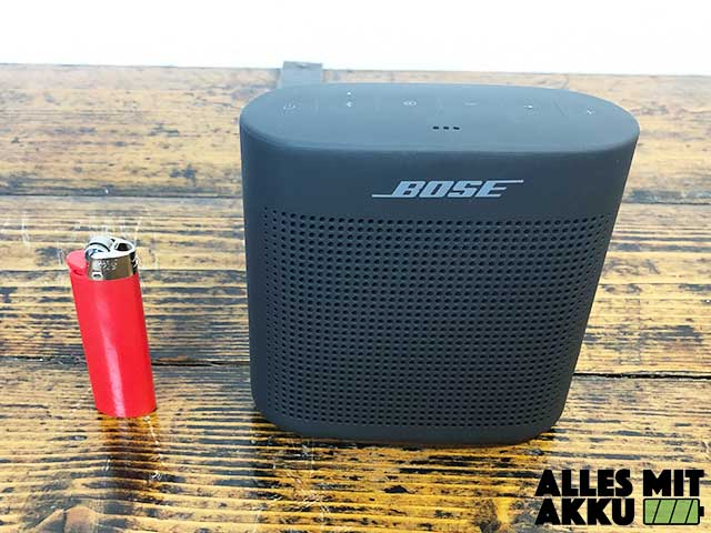 Bose SoundLink Color II Test - Größenvergleich