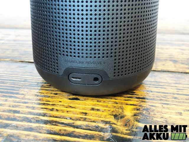 Bose SoundLink Revolve+ Test - Anschlüsse